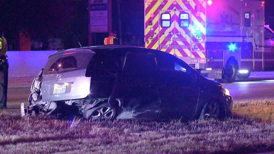 A toddler was one of the three people hospitalized late Tuesday night after an alleged drunk driver crashed into another vehicle head-on. Photo: Ken Branca