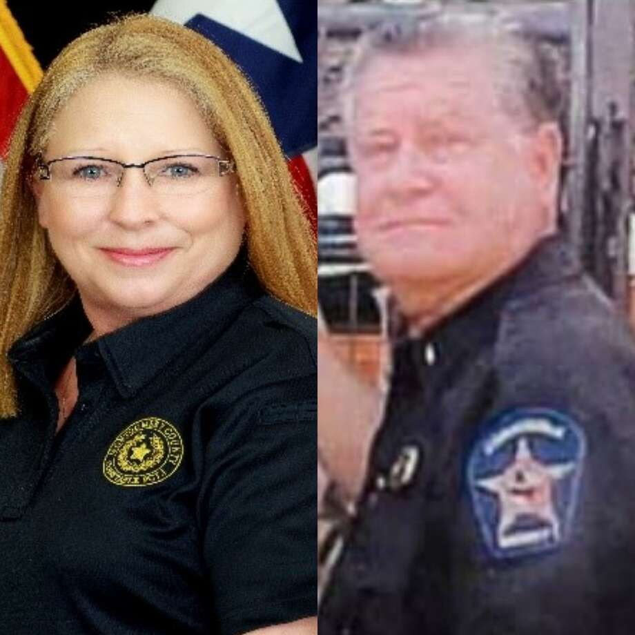 Montgomery County Precinct 1 Constable's Office senior clerk Yvonne Abrams-West, left, and Former Lt. Jerry Stovall, right, died this past week. Photo: Courtesy Of The Montgomery County Precinct 1 Constable's Office