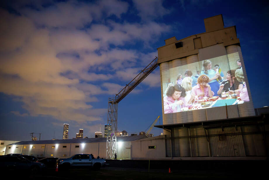 A scene from the movie Grease at the Drive-In at Sawyer Yards on Monday, May 11, 2020. Photo: Annie Mulligan, Contributor / © 2020 Annie Mulligan / Houston Chronicle