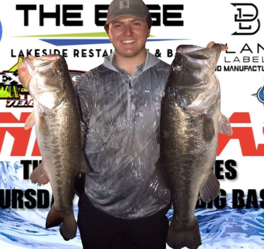 Parker Greer (pictured) and Scott Offenbecher won the CONROEBASS Tuesday night tournament with a stringer weight of 14.18 pounds. Photo: CONROEBASS