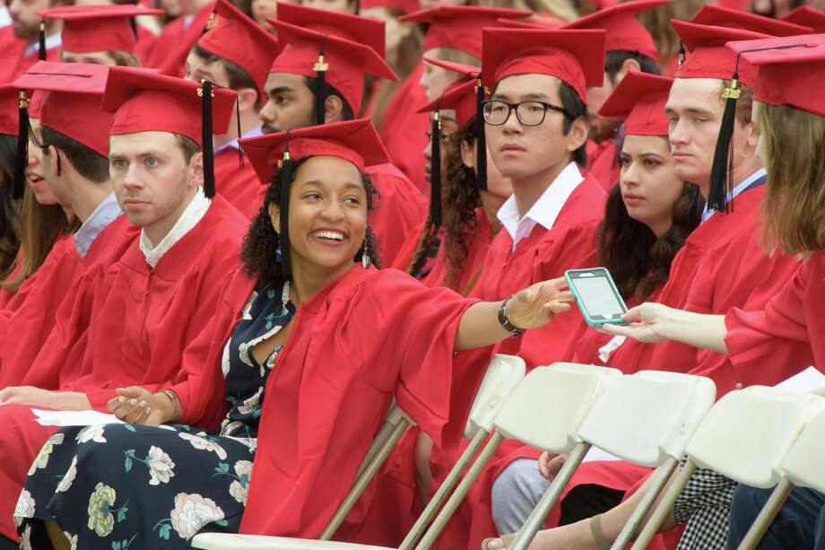 The class of 2020 at Wesleyan University will earn their degrees during a virtual ceremony May 24. Photo: Hearst Connecticut Media File Photo / 2018