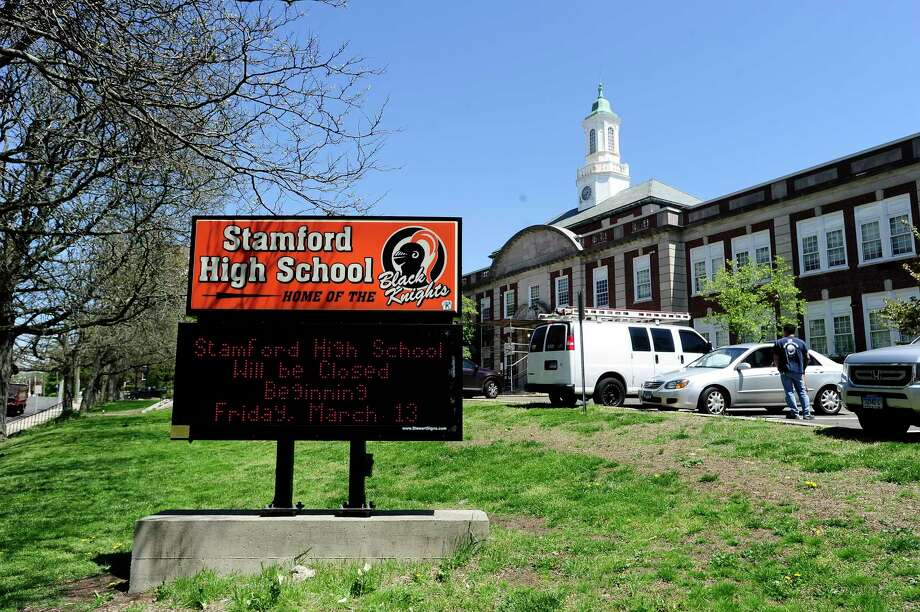 Stamford High School. Photo: Matthew Brown / Hearst Connecticut Media / Stamford Advocate