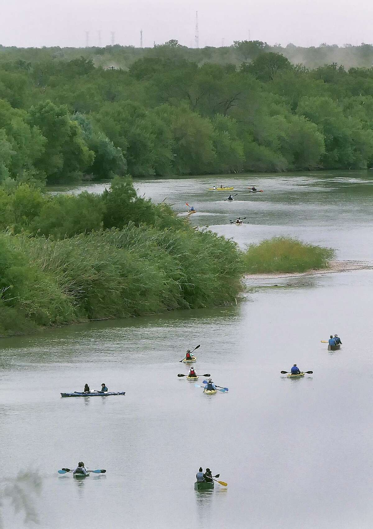 More than 70 people and one dog participated the 3rd Community Paddle on the River Saturday, October 12, 2019. Part of the 25th Annual Dia del Rio celebration, the event, hosted by the Rio Grande International Study Center with Councilman George Altgelt providing a light brunch at the Max Golf Course from which the group launched before finishing at the El Pico Water Treatment Plant.