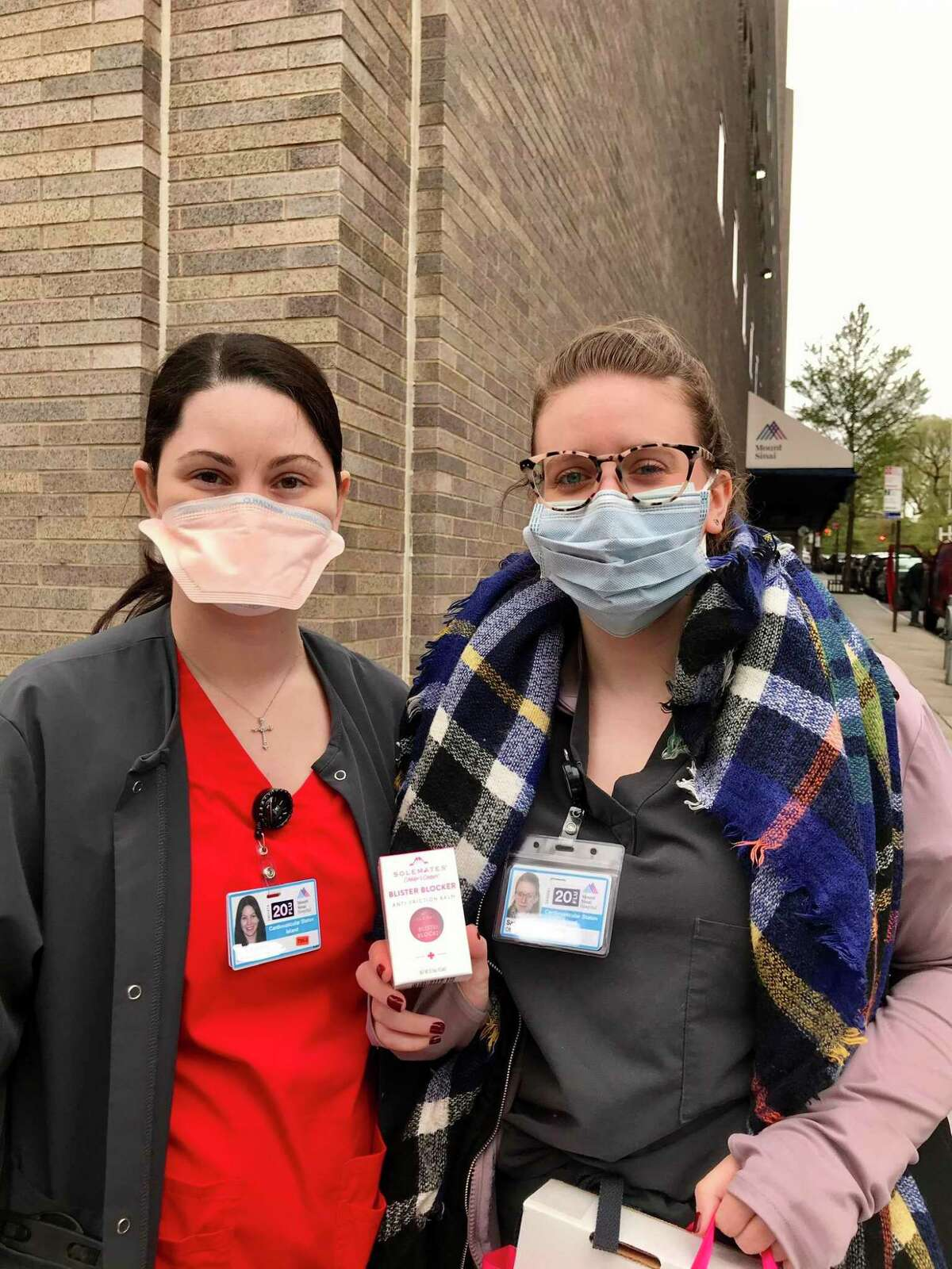 Solemates, a local company founded by Greenwich native Monica Ferguson and Becca Brown, has a product that is aiding healthcare workers that are experiencing face-chafing, due to wearing N95 masks during the COVID-19 pandemic. The company began a program in which it donates one of its Blister Blocker products to the healthcare community for each one a customer purchases.