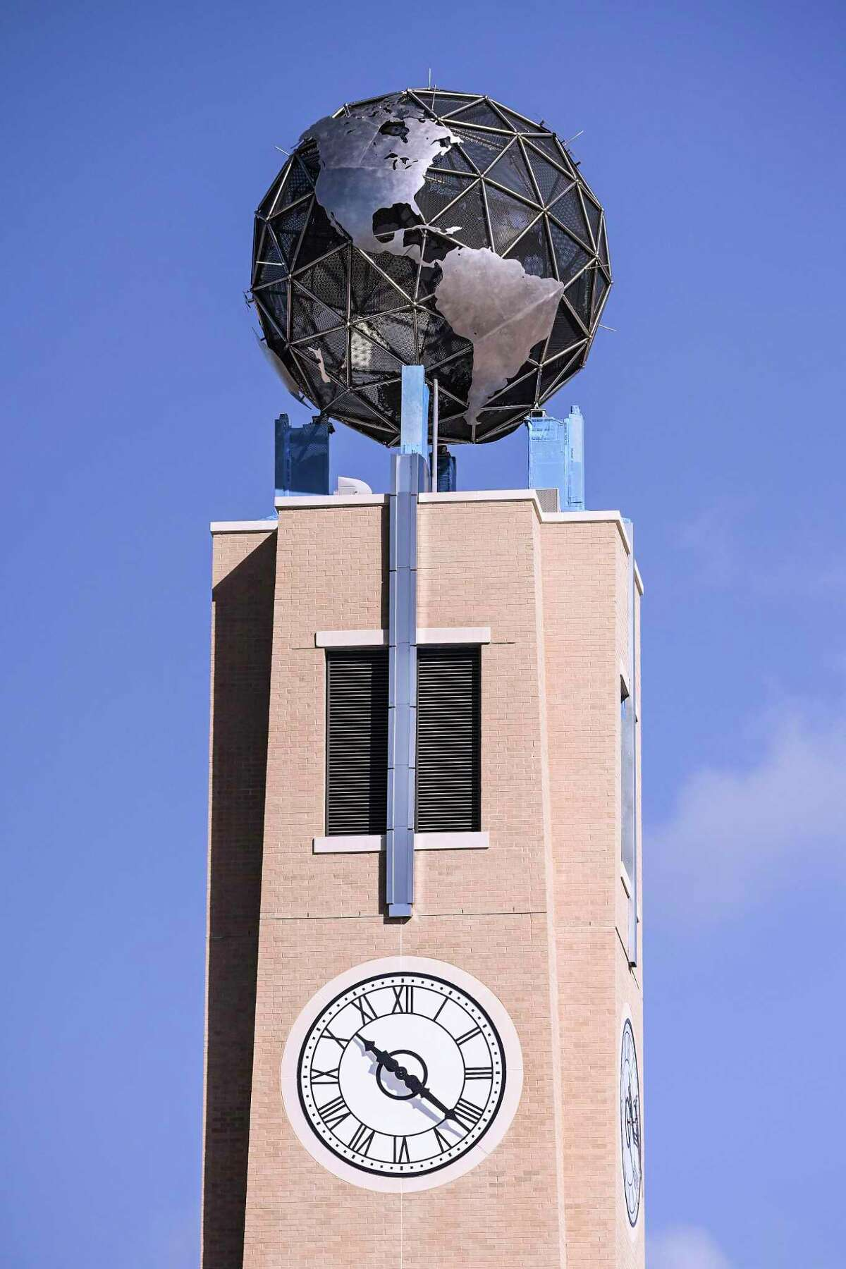 A view of the TAMIU clock tower as seen on Saturday, Feb. 8, 2020.