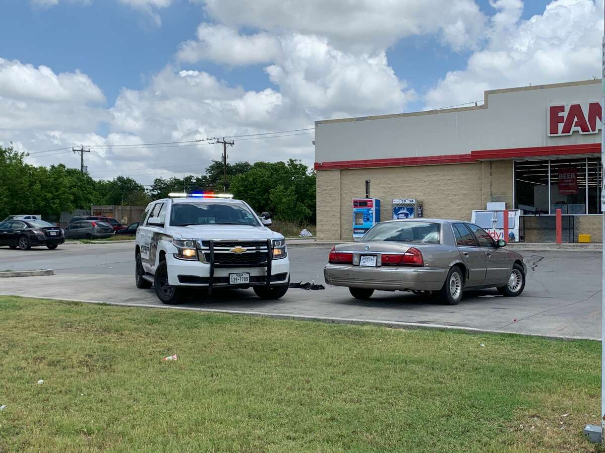The Bexar County Sheriff's Office can be seen investigating a shooting on the Northeast Side earlier this month. The sheriff's office has set up a mobile substation on the Northeast Side in response to a recent uptick of violent crime in the area.