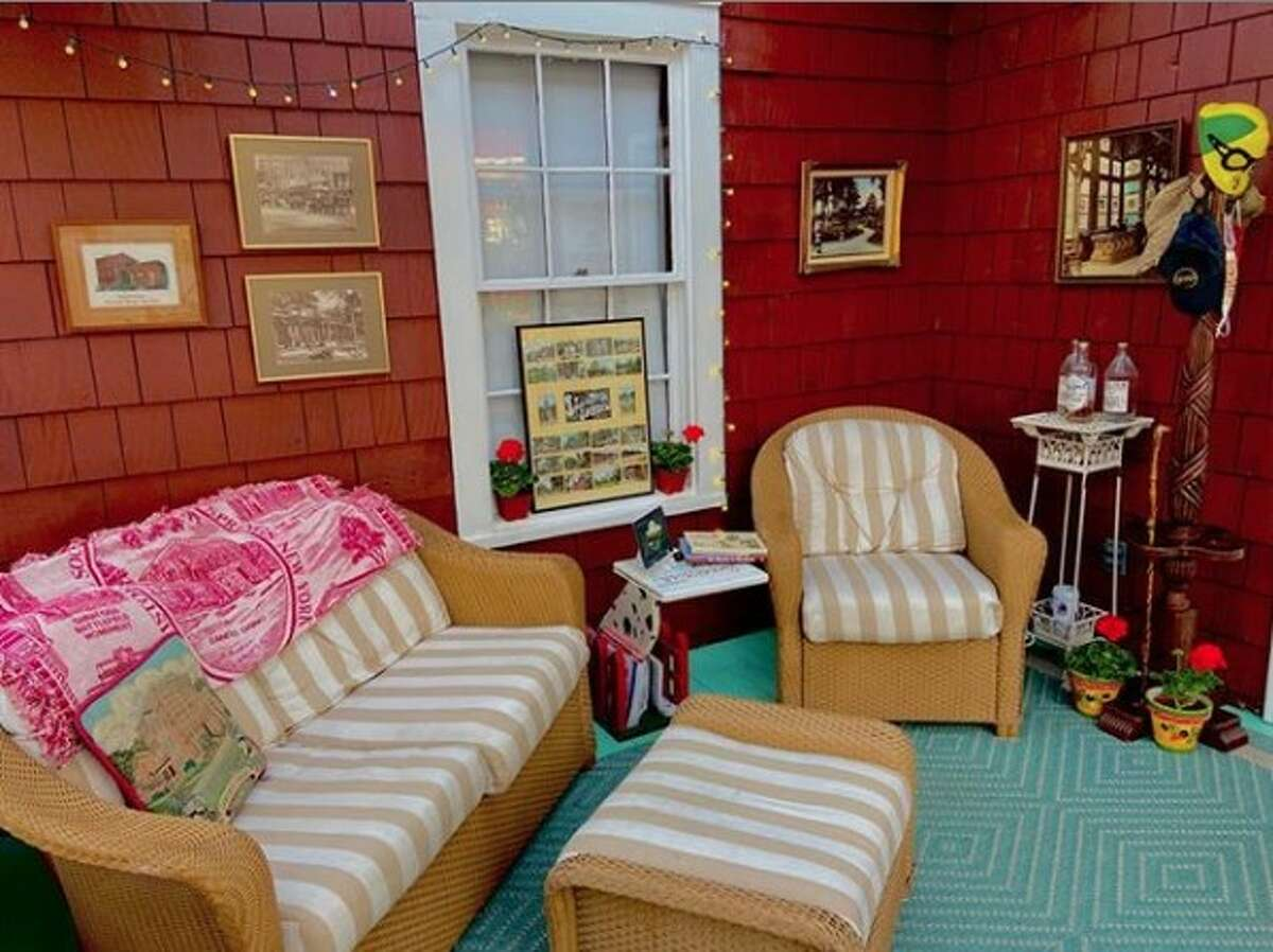 Carol Godette's home on Nelson Avenue won a prize in the Saratoga Springs Preservation Foundation porch decorating contest and virtual porch party, which took the place of the foundation's annual porch party and historic homes tour this year.