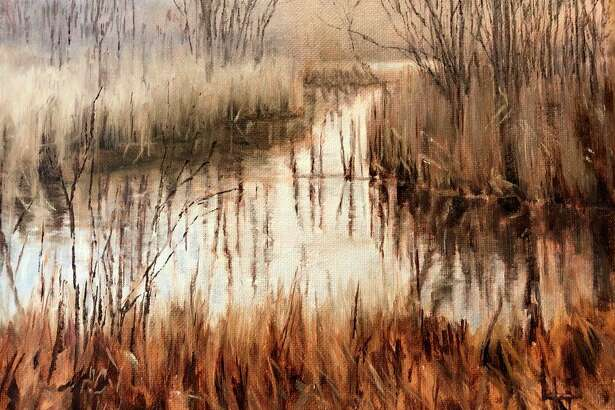 "Ludington artist Lynne Haslam's ""Lincoln River"" is among the works of art featured in her ""My Relationship with Art"" exhibit, which is currently being hosted online by the Ludington Area Center for the Arts. (Courtesy photo)"