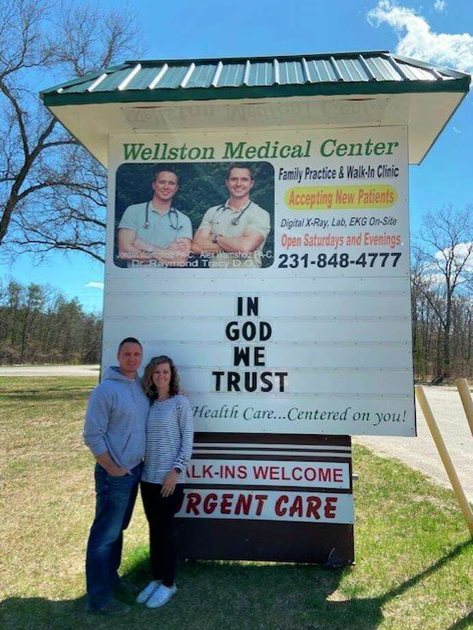 Jordan and Emily Warnsholz, co-owners of Wellston Medical Center and Primary Health Services in Ludington have joined a federal lawsuitagainst Governor Gretchen Whitmer. The couple announced that they would forgive$214,000 in medical debt owed to their family practices during the pandemic. (Courtesy Photo)