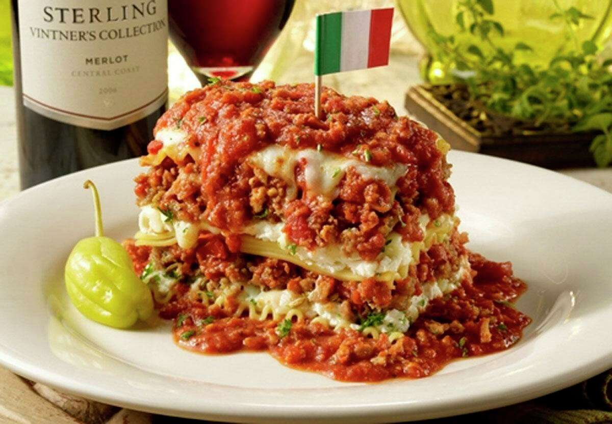 A 15-layer lasagna from the now-closed Spaghetti Warehouse on San Antonio's East Side
