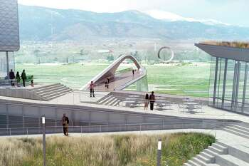 The U.S. Olympic and Paralympic Museum in Colorado Springs is placed as the front lawn of the city's downtown. A Houston steel fabricator built the modernist bridge that takes pedestrians from the city's America the Beautiful Park to the museum and its Hall of Fame.