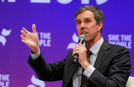Former Representative Beto O'Rourke speaks at the presidential candidate forum sponsored by She the People at Texas Southern University Wednesday, April 25, 2019.