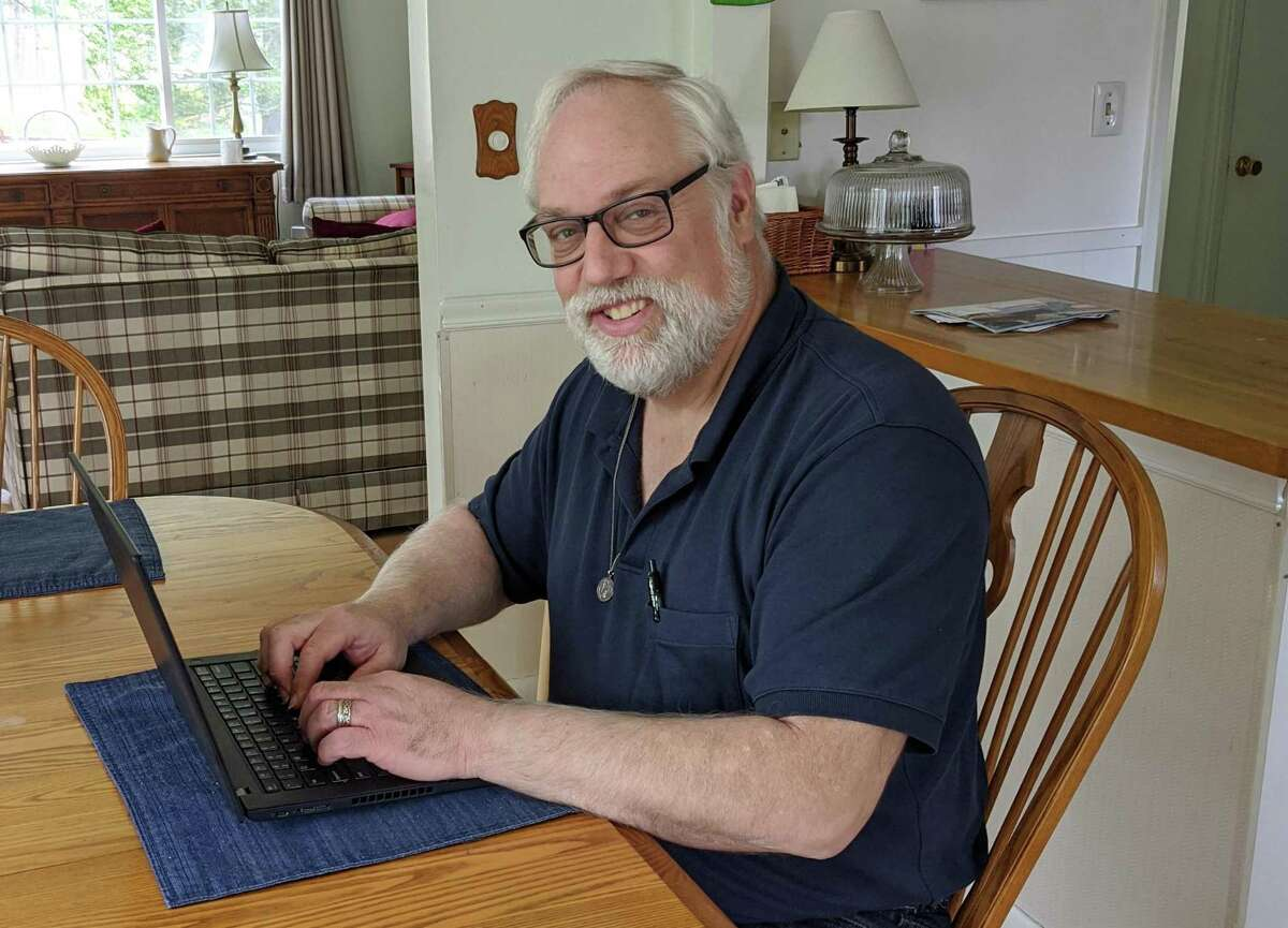 Town IT Director Andrew Neblett is - what else, these days? - working from home.