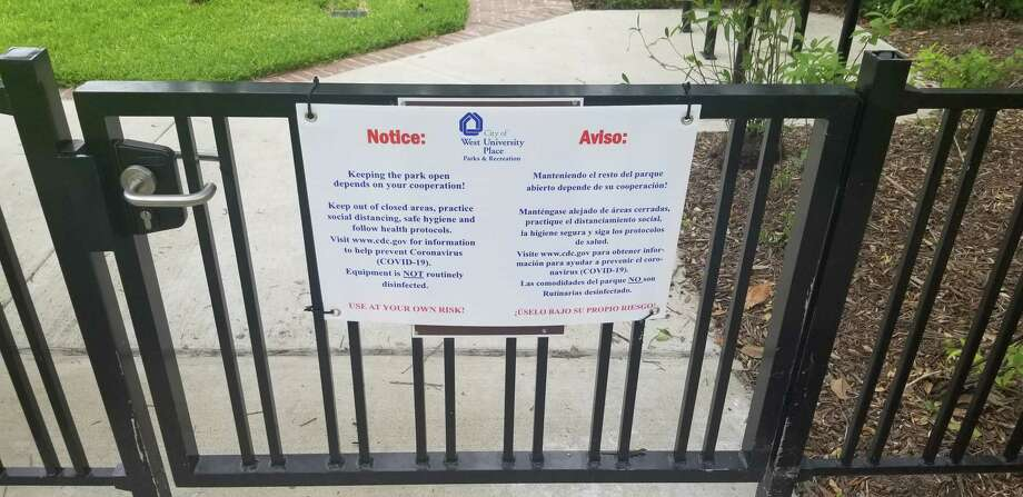 West U partially reopens some of the city's parks on Wednesday with cautions from the city government.