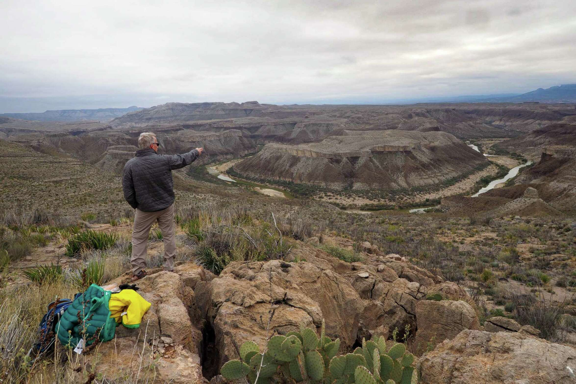 After a two-month shutdown, Big Bend National Park will reopen beginning Monday for day-use activities including hiking and bicycling. Shown is the view from the park's South Rim.