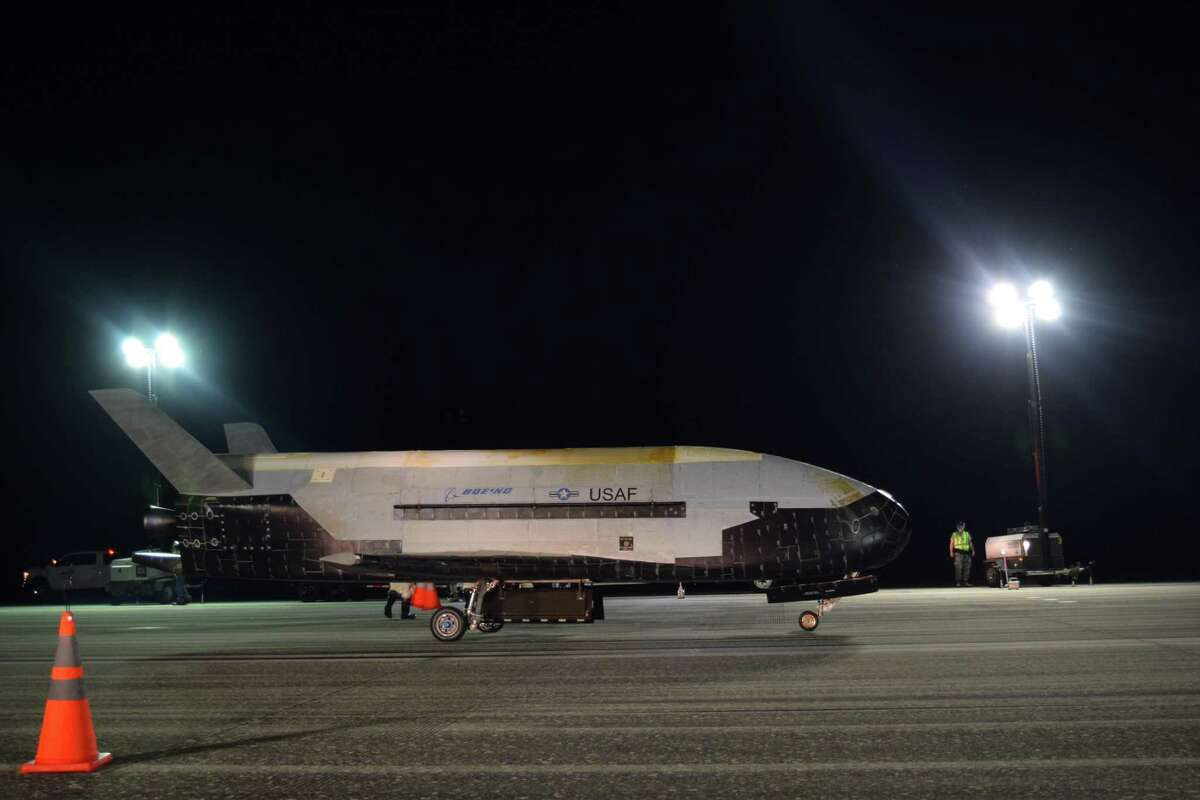 The Air Force's X-37B Orbital Test Vehicle Mission 5 landed at NASA's Kennedy Space Center on Oct. 27, 2019.