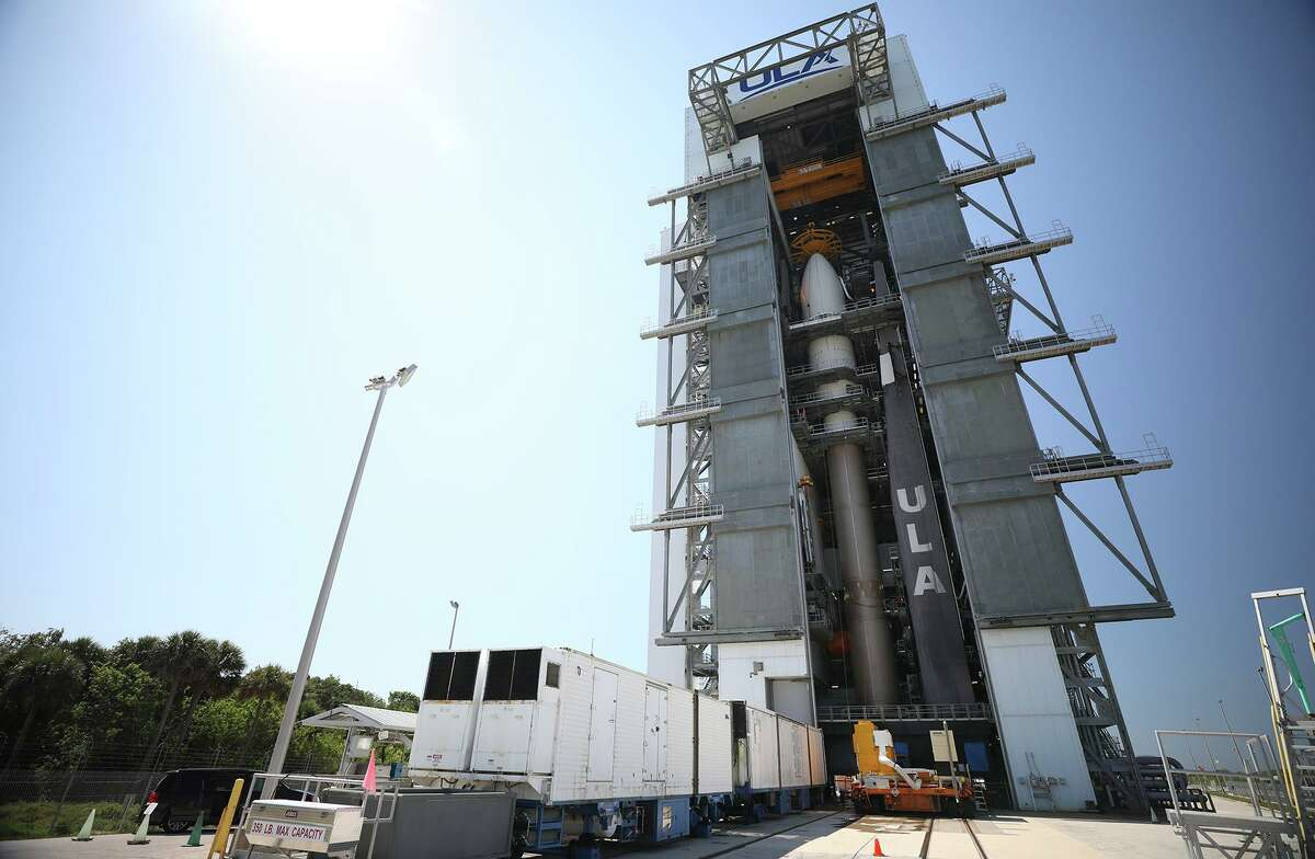 The encapsulated X-37B Orbital Test Vehicle sits on top of a United Launch Alliance Atlas V rocket for United States Space Force-7 mission.
