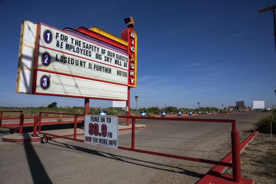 Big Sky Drive-in Theatre, as seen on Thursday, May 14, 2020, announced they will reopen on May 22 for Memorial Day weekend. Jacy Lewis/Reporter-Telegram Photo: Jacy Lewis/Reporter-Telegram