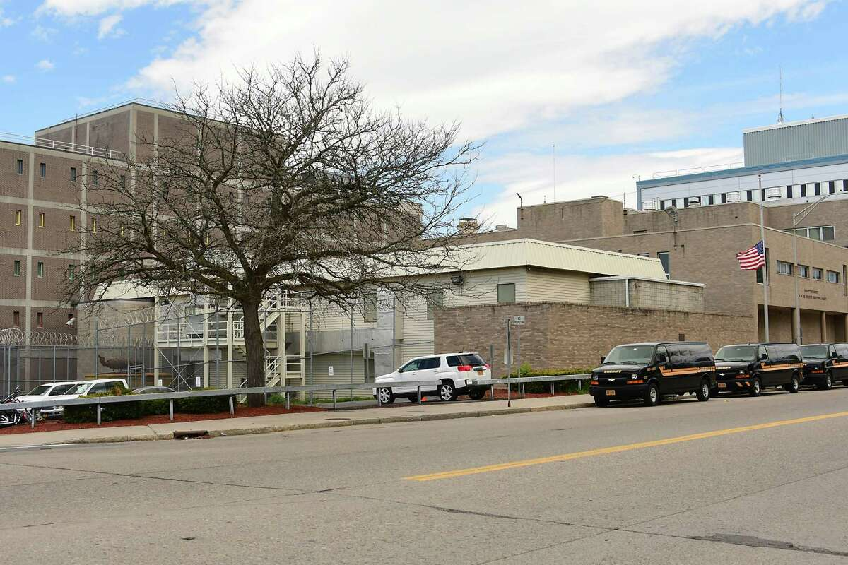 Exterior of the Schenectady County jail on Thursday, May 14, 2020 in Schenectady, N.Y. (Lori Van Buren/Times Union)