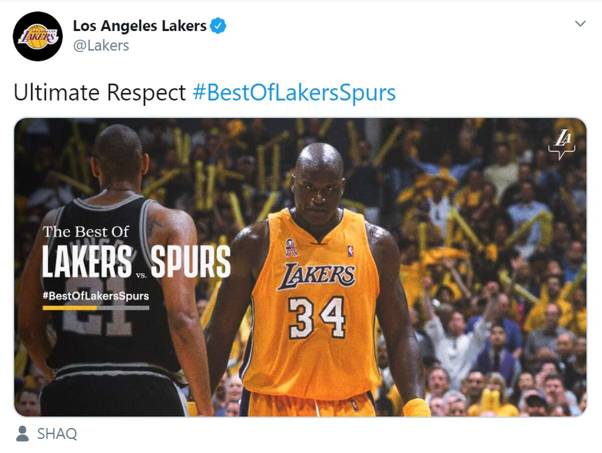 The Lakers started off their series of tweets saying they have nothing but respect for their Texas competitors.
