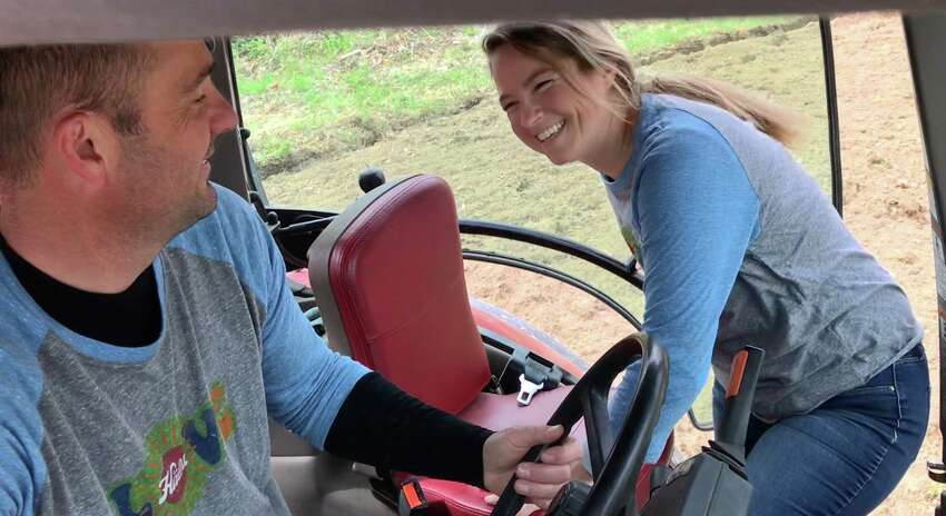 Eric and Jamie Ziehm, who run a dairy farm in Hoosick Falls, recently planted organic oats to be grown for a company that produces  the only yogurt in the world made with oat milk from whole-grain oats.