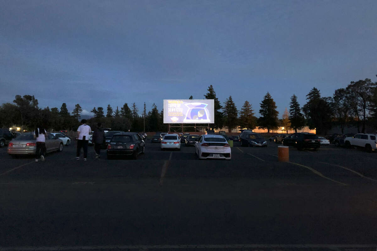 FILE - The West Wind Solano Drive-in Movie Theater in Concord, CA. The drive-in recently reopened following a brief hiatus due to curfew restrictions.