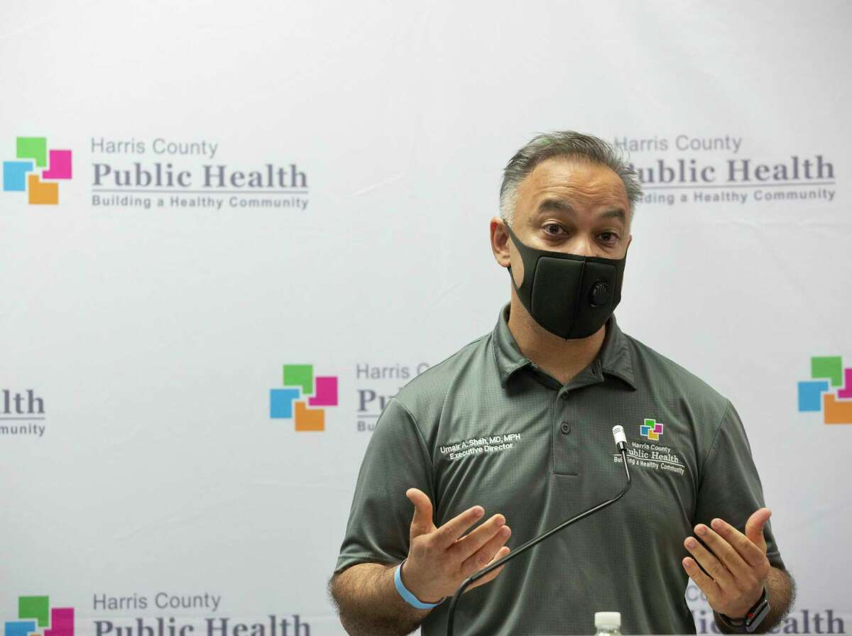 Harris County Public Health Department Executive Director Dr. Umair Shah speaks about the contact tracer army during a press conference Wednesday, May 13, 2020, in Houston. Shah will step down in December, two Harris County officials said Tuesday.