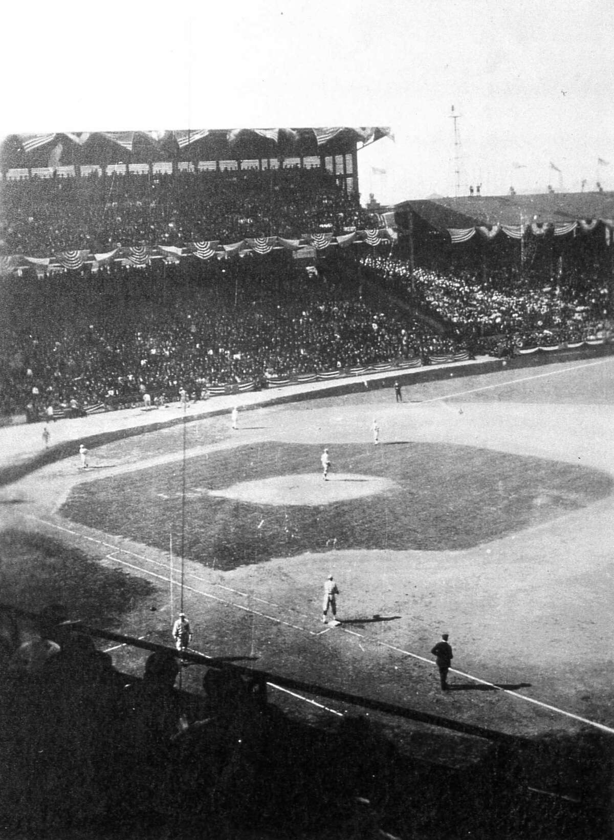CHICAGO, IL - SEPTEMBER 5-11, 1918. General action of the Boston Red Sox and Chicago Cubs during the 1918 World Series in September at Comiskey Park Chicago, Illinois. (Photo by Mark Rucker/Transcendental Graphics, Getty Images)