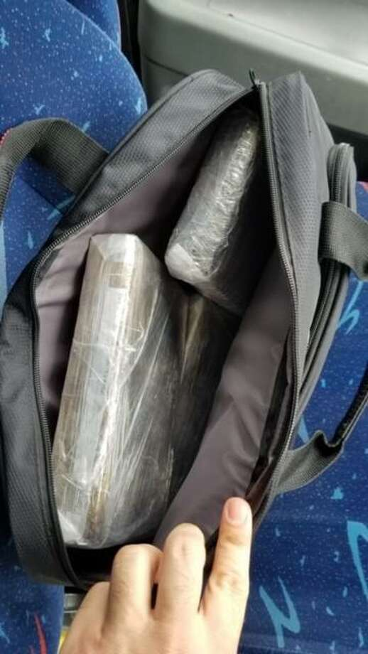U.S. Border Patrol agents said they discovered more than 9 pounds of cocaine inside a bag while inspecting a commercial bus. No one claimed ownership of the bag. The investigation continues. Photo: Courtesy Photo /U.S. Border Patrol