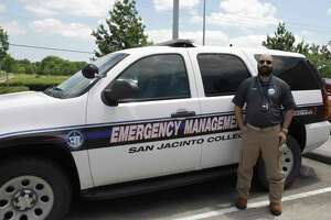 Ali Shah, manager in San Jacinto College's emergency management office, is among staff members guiding plans for the college as it plans for the summer and fall terms. The first summer session will consist of online learning.