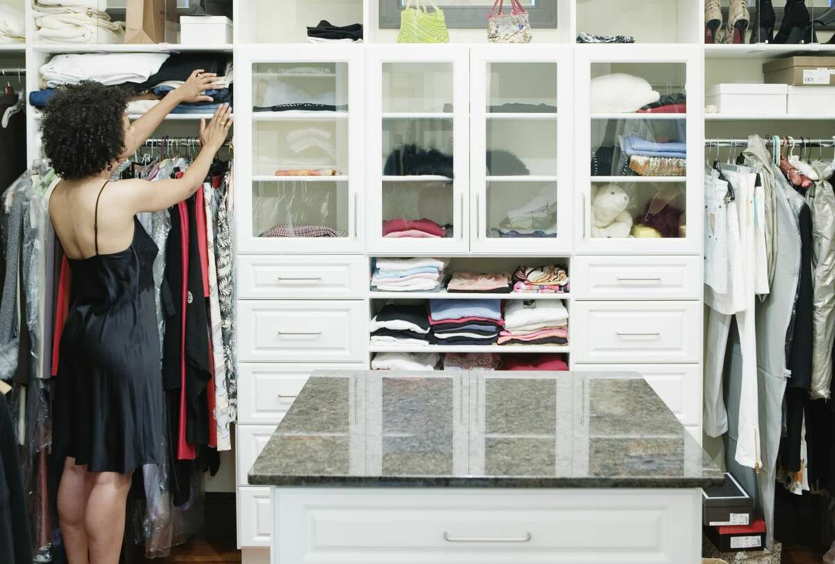 Do your sweaters fall over in a messy pile anytime you reach for the one you want? Whether you use open shelves or have shelving in a walk-in closet, chances are your favorite sweaters could benefit from a little compartmentalization.