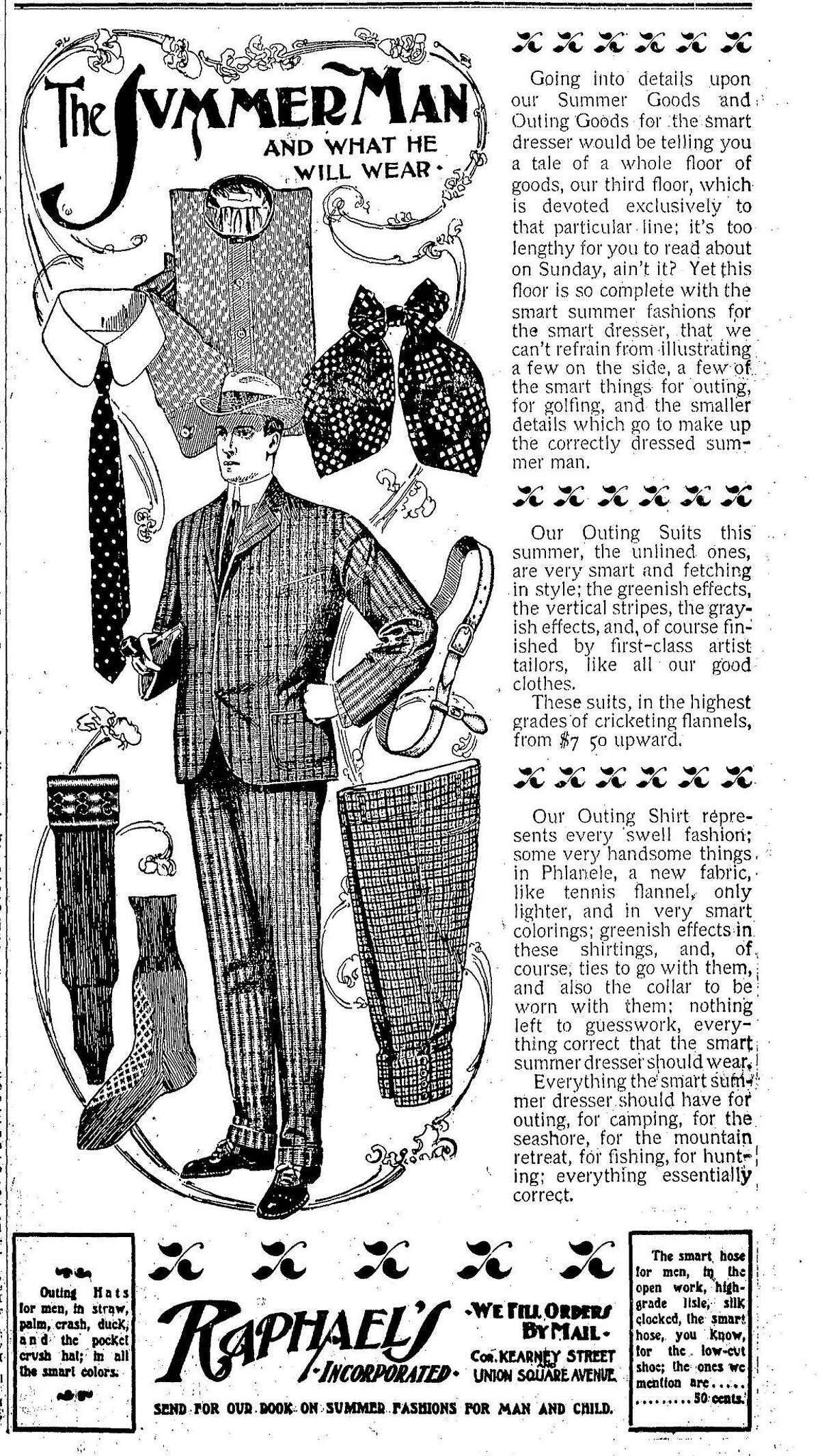 Display ads from May 26, 1901