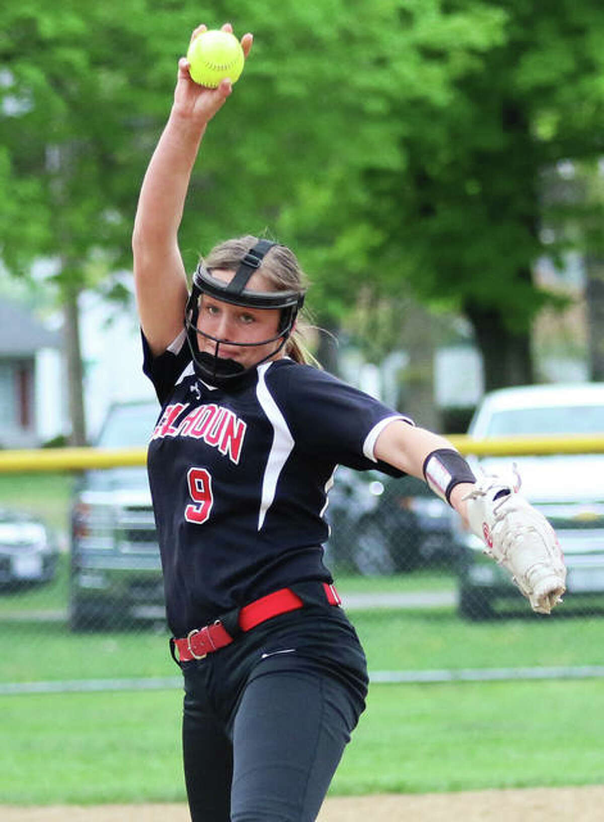 After averaging nearly two strikeouts per inning in her two seasons as Calhoun's ace, Sydney Baalman will continue her softball career at SIUE.