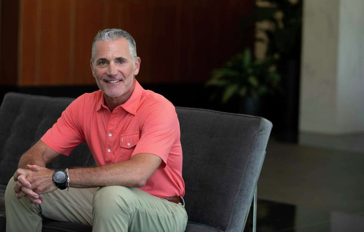 Chris Hanslik, chairman of the BoyarMiller law firm, poses for a photograph Monday, May 11, 2020, in Houston.