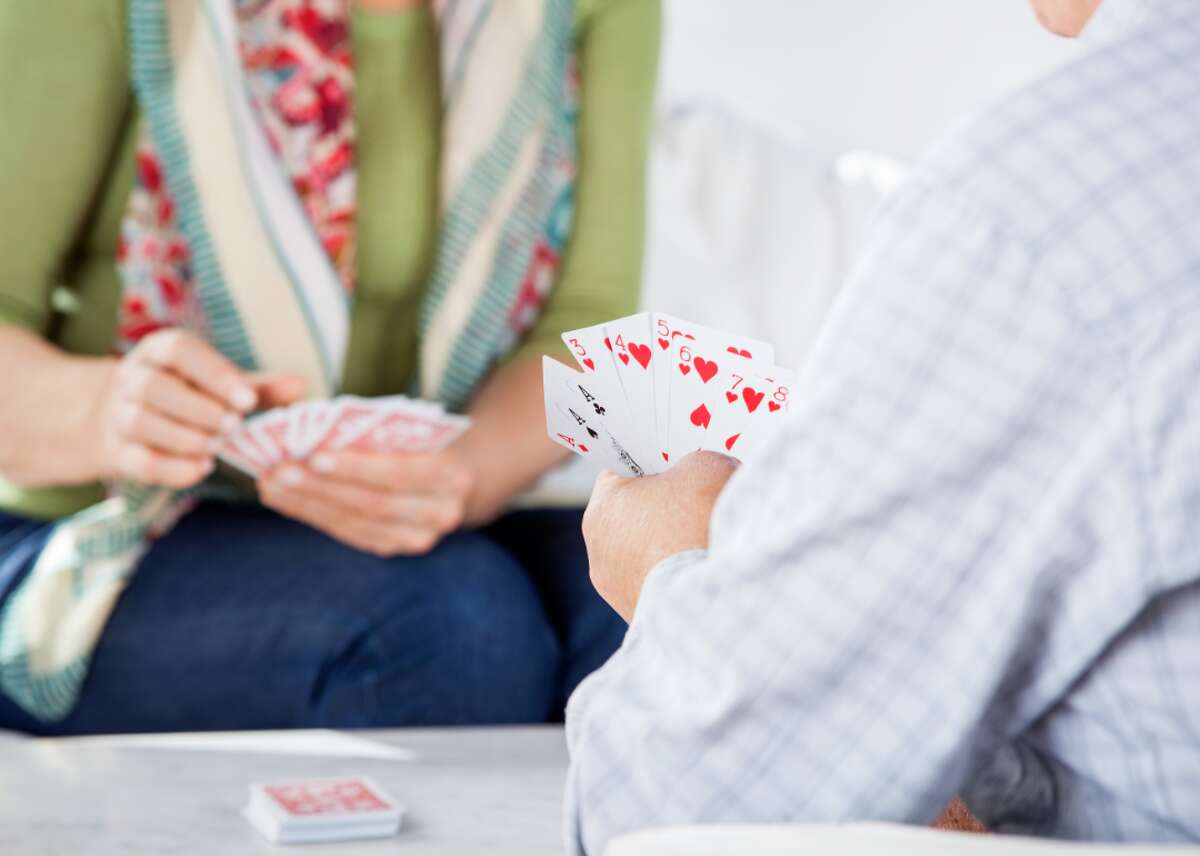 Rummy Basic rummy or straight rummy is a draw-and-discard game in which players attempt to form sets of three- or four-of-a-kind or sequences that have three or more cards from the same suit; these are called