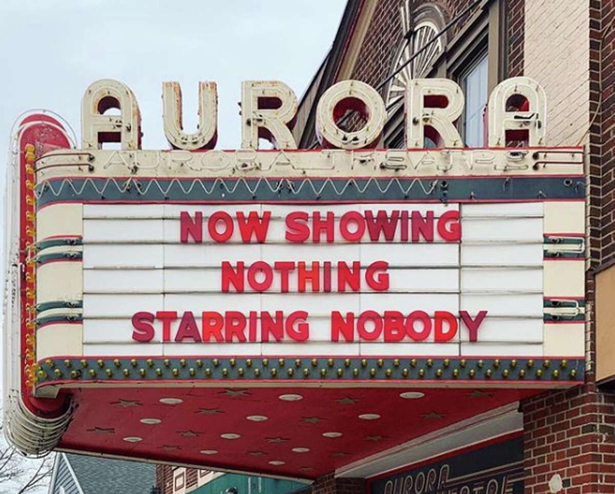 Probably an art movie. (Aurora Theater, East Aurora, N.Y.)