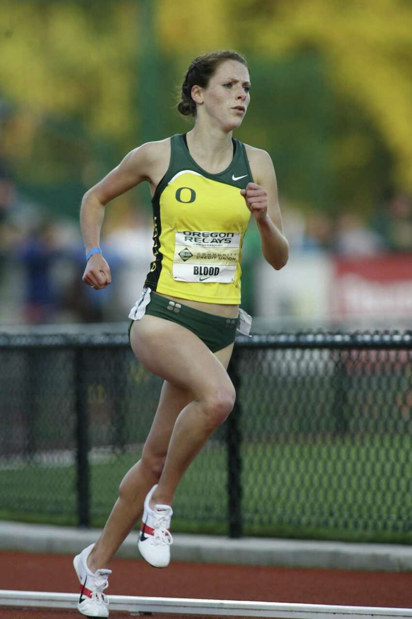 Eric Evans/University of Oregon University of Oregon junior distance runner Nicole Blood, a Saratoga Springs alum, who earned a trip to the NCAA championships by winning the 5,000 meters at the West Regional