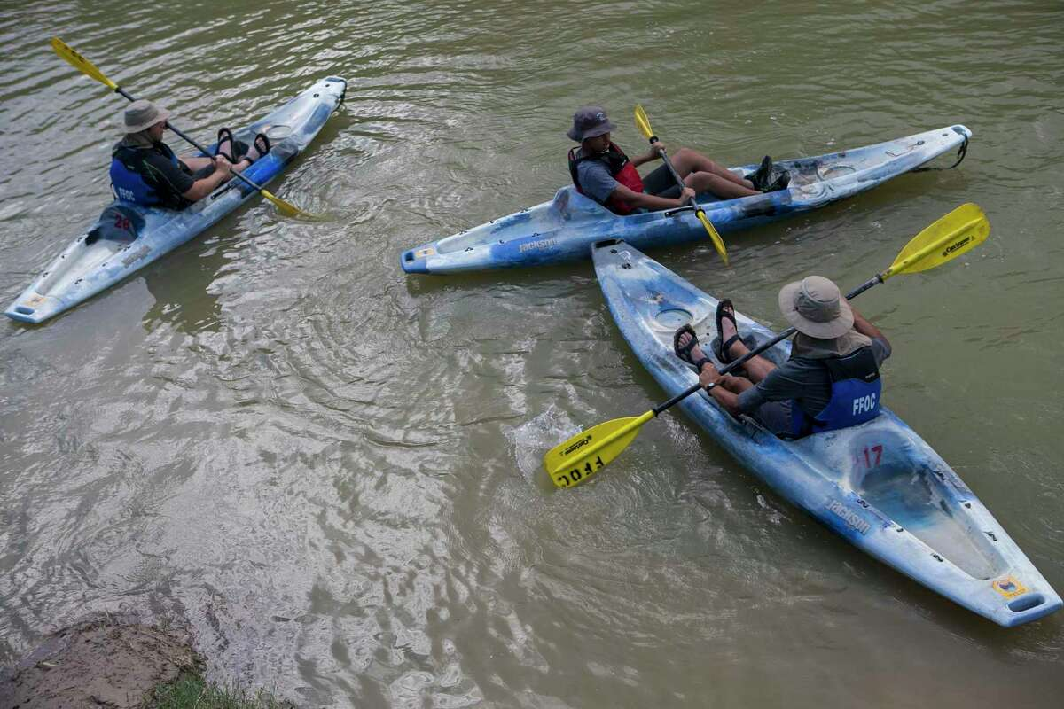 Kayakers wait to begin a trip on the Rio Grande in the Big Bend area in 2018. A return to full operations will continue to be phased in and visitor services will be limited, the park announced.