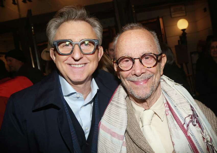 NEW YORK, NEW YORK - JANUARY 15: Thomas Schumacher and Joel Grey pose at the opening night of the new play