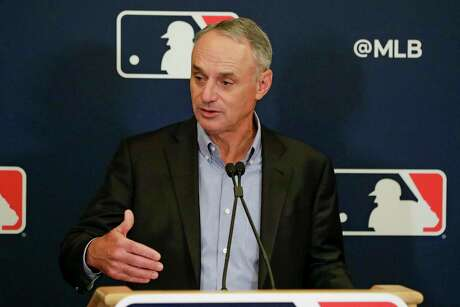 """Commissioner Rob Manfred acknowledged that nothing is """"risk-free"""" when it comes to getting baseball started again."""