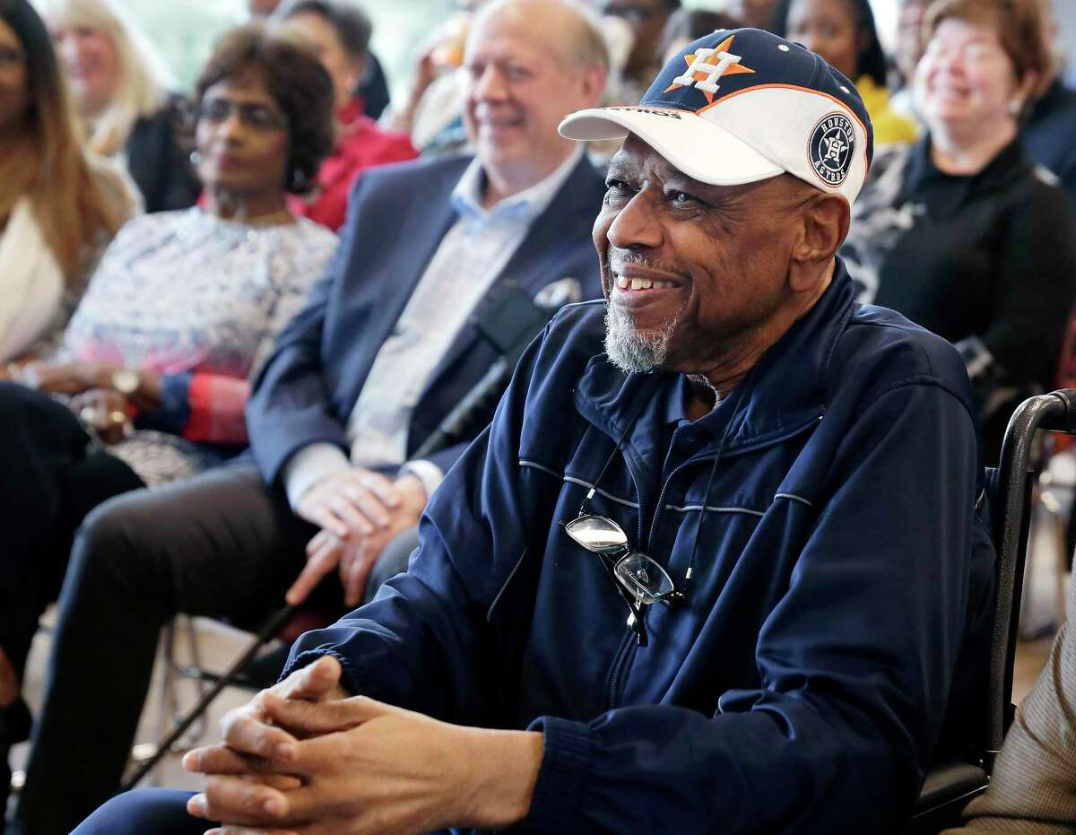 Bob Watson was all smiles this past March 5, when he was on hand for dedication ceremonies of the Bob Watson Education Center at the Astros Youth Academy in Houston.