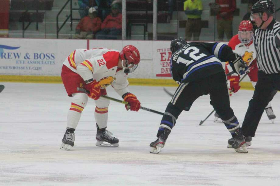Ferris' hockey team will be playing in the WCHA one final season. (Pioneer final photo)