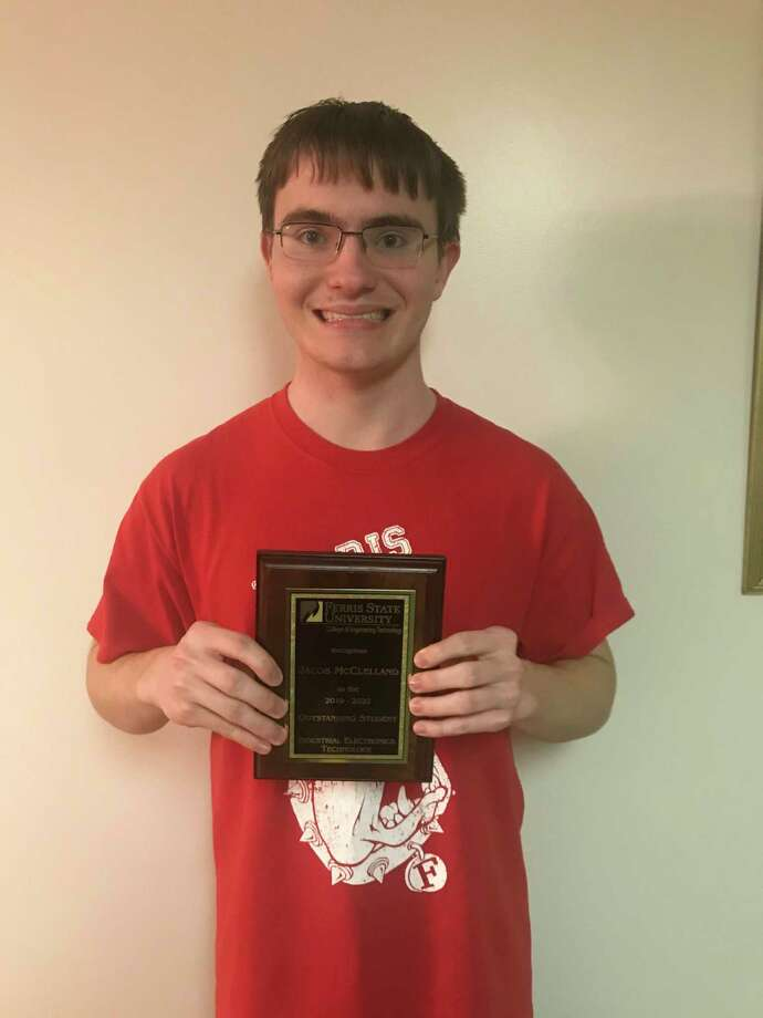 Jacob McClelland, Midland High School graduate and Ferris State sophomore,was named an Outstanding Student for the Associate of Applied Science in Industrial Electronics Technology. (Photo provided)