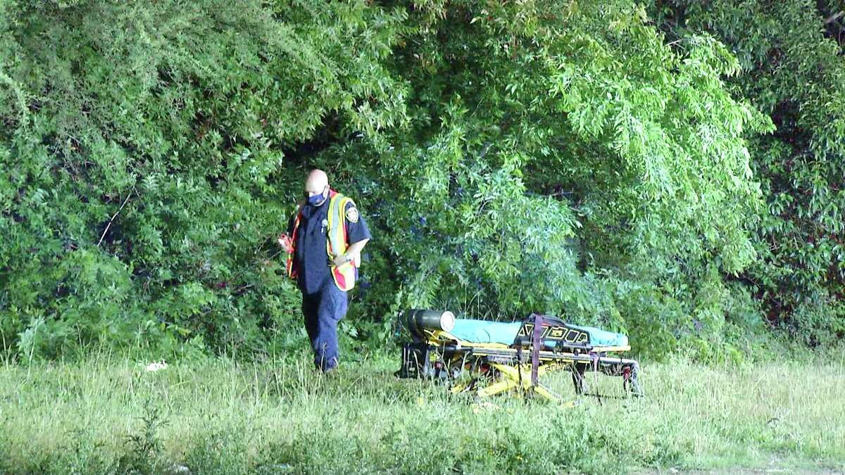 A man was hospitalized after getting run over by a train late Thursday night on the Southeast Side.