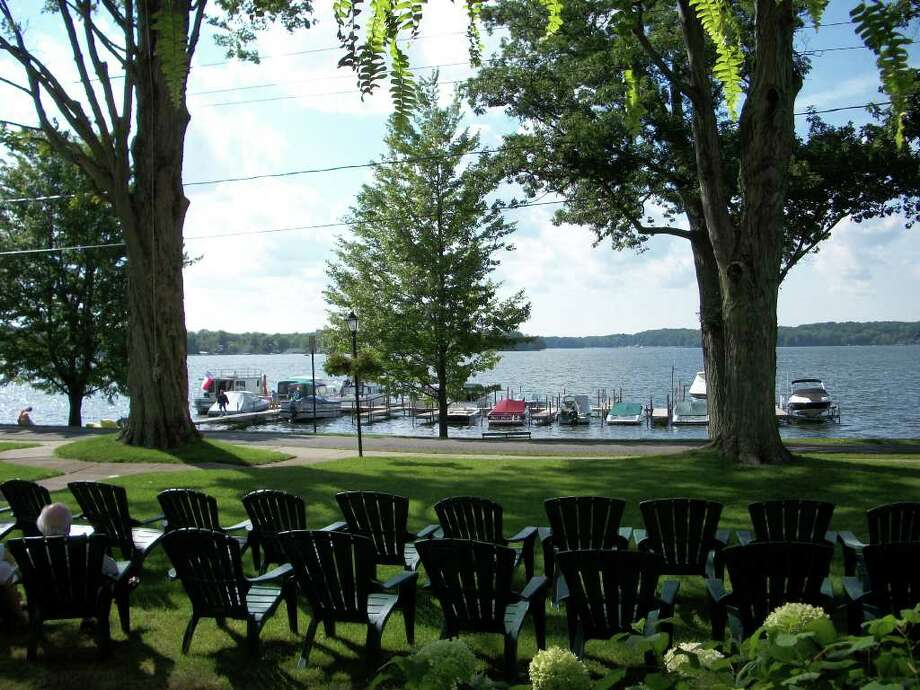 A view of Bemus Bay on Chautauqua Lake from the porch of the Hotel Lenhart. (Carl Francis Penders/Special to the Times Union)