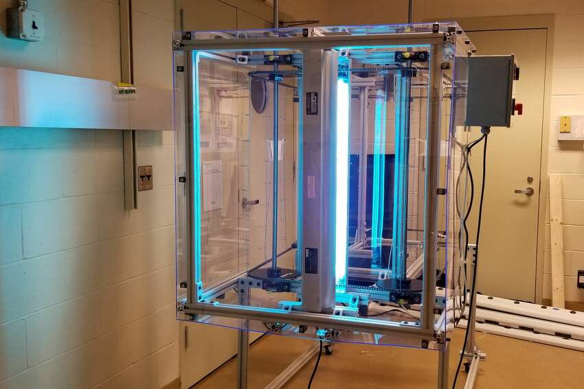 RPI and Mt. Sinai Hospital are developing a machine that uses ultraviolet rays to clean N95 masks. It's one of numerous innovations stemming from the coronavirus pandemic.