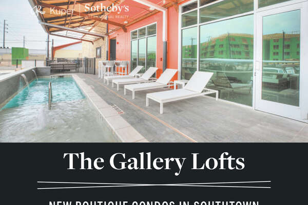 RANGING FROM 1,089 - 1,486 SF | 1 & 2 BEDROOMS COVERED PARKING | POOL | OUTDOOR KITCHEN | DOG RUN FROM THE $340S TO THE $400S MODEL IS READY TO TOUR! The Gallery Lofts is a boutique condominium community of 27 lofts located in the trendy San Antonio neighborhood of Southtown. Blocks from some of the city's best parks, galleries, restaurants, and boutiques. Convenient highway access ensures you're never far from all that San Antonio has to offer. 210 W PEDEN ALLEY | SAN ANTONIO, TX 78209 SEE MORE AT GALLERYLOFTSSA.COM EXCLUSIVELY MARKETED BY SHAIL PATEL 210.454.2904 | shail.patel@sothebysrealty.com