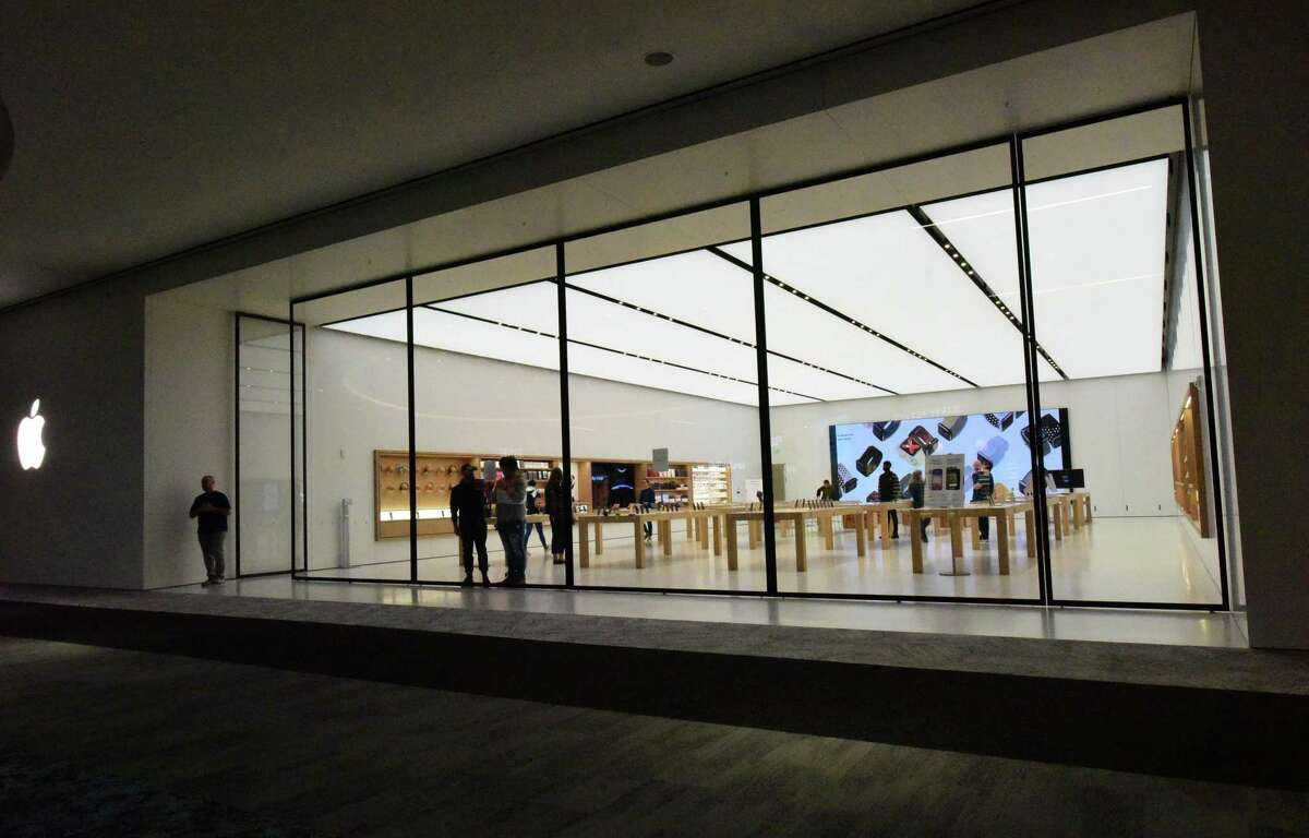 Apple's store at the SoNo Collection mall in Norwalk, Conn., opened in February 2020.