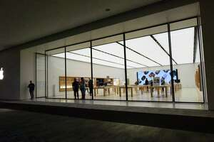 The Apple store in the SoNo Collection mall in Norwalk, Conn., on March 14, 2020. Device spending is predicted to drop by about 16 percent globally in 2020, according to a new forecast of IT spending by consulting and research firm Gartner.