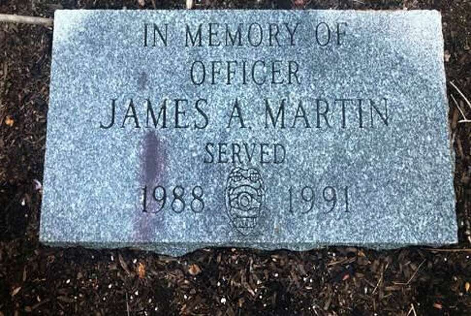 In observance of National Police Week New Canaan Police honors two New Canaan Officers whom died in the line of duty: Chief Constable Louis Drucker and Officer James Martin. Photo: Contributed Photo